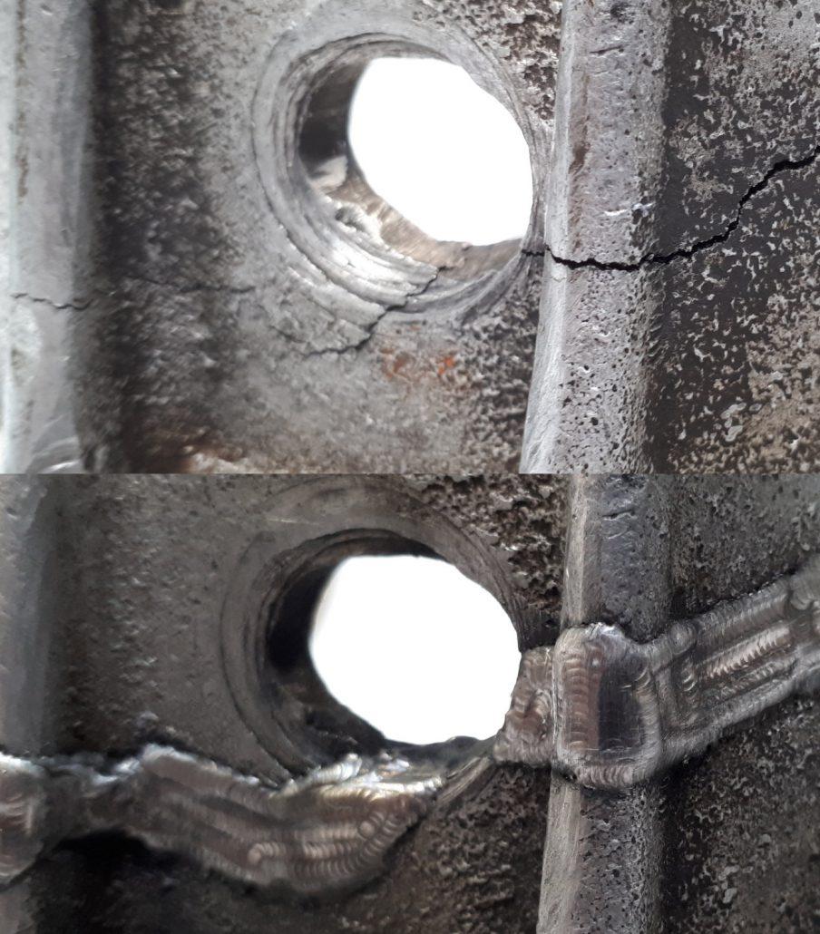 ADS Laser - Carter aluminium fissuré